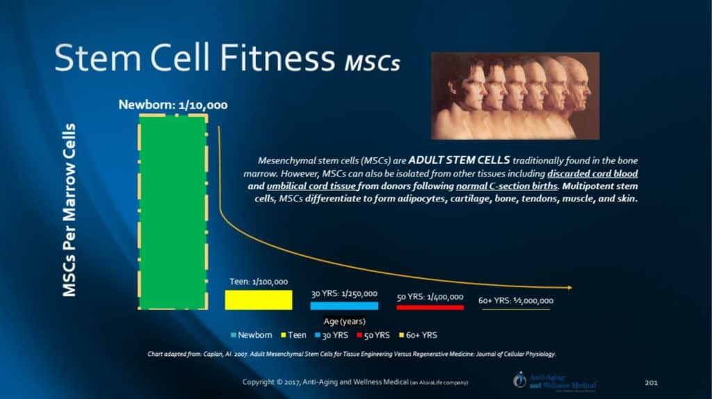 US & International Adult Stem Cell Fitness with Age.